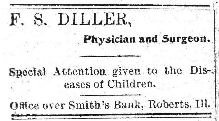 F. S. Diller, M. D. 1901 ?? Ad