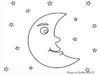 Mewarnai Gambar Bulan Dilangit Tinggi