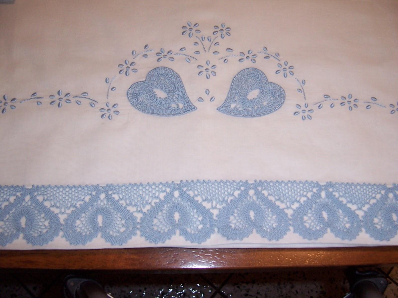 Lenzuolino per carrozzina in lino vintage embroidering