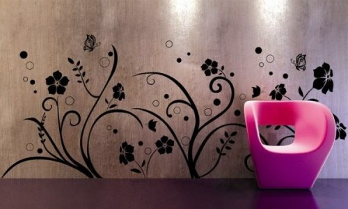 interior wallpaper design flower motif - Home Wallpaper Designs