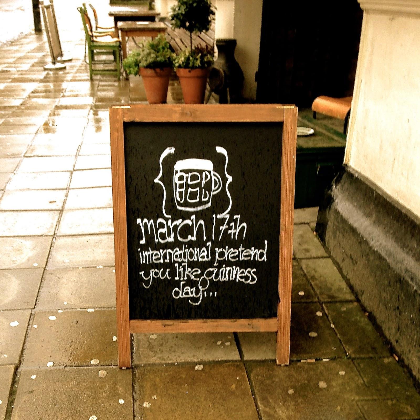International pretend you like Guinness day