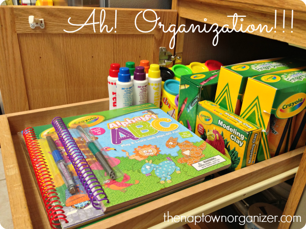 craft and art storage and organization