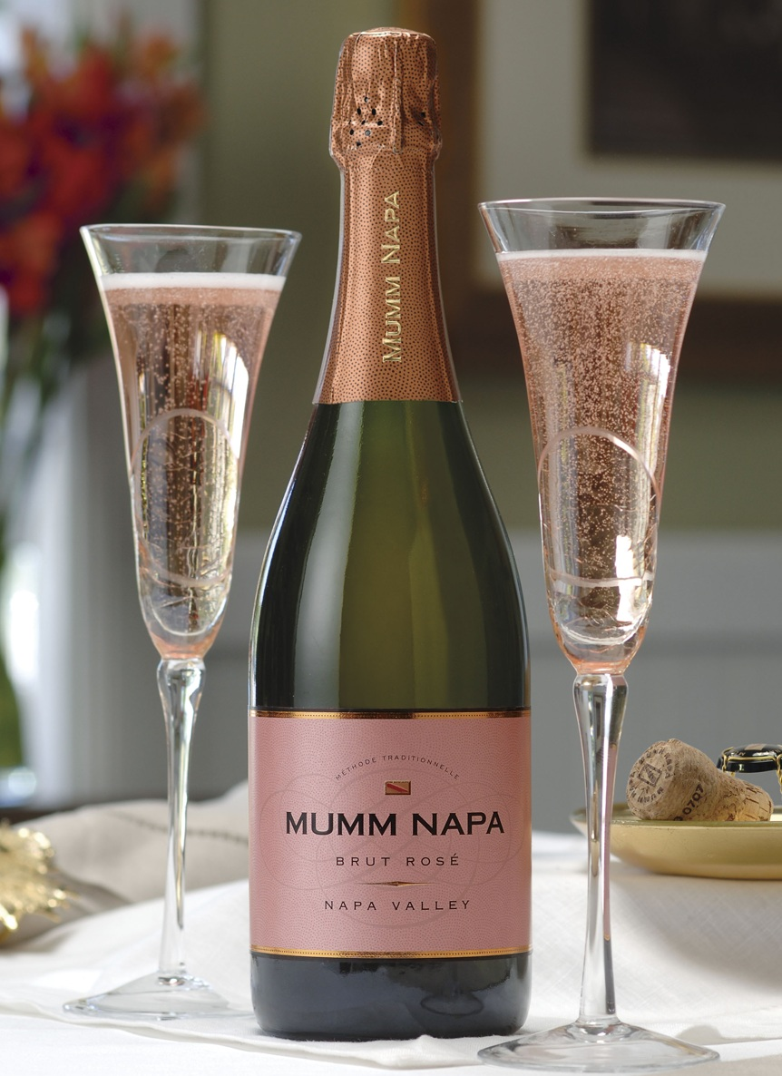 So much wine so little time mumm napa brut rose for What is rose champagne