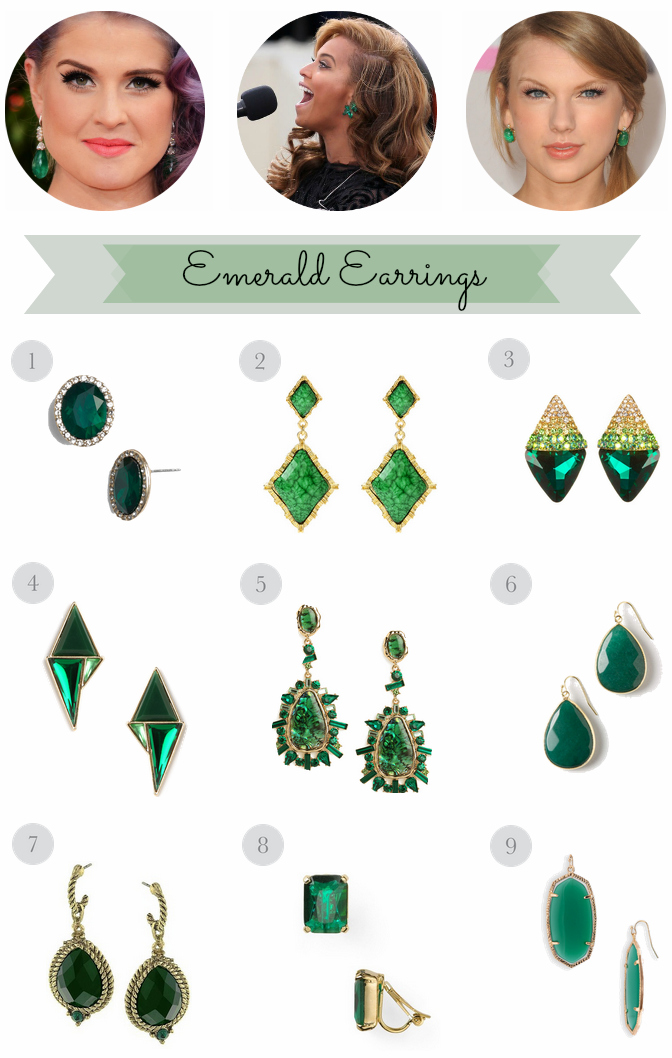emerald green earring trend