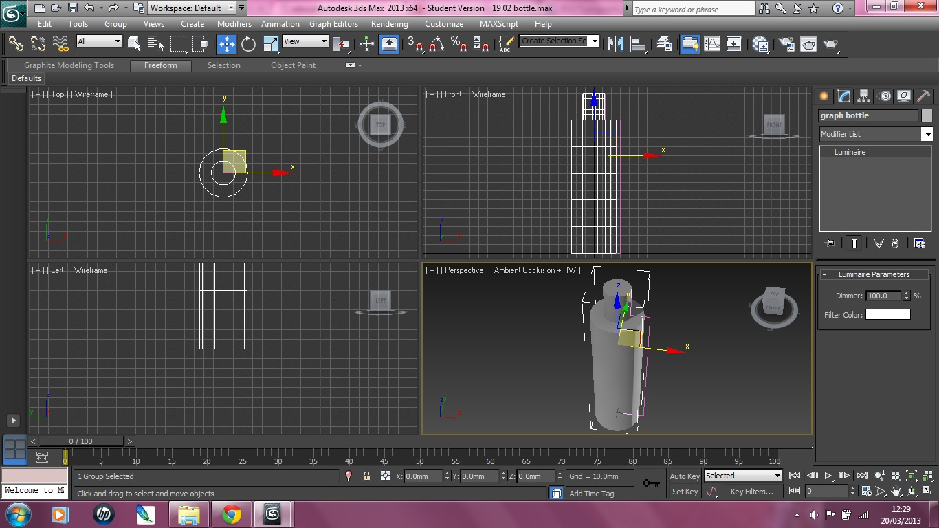 3ds Max Bottle Two Bottles Using 3ds Max