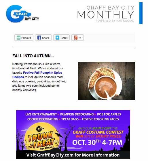October Newsletter: Spice Up Your Fall!