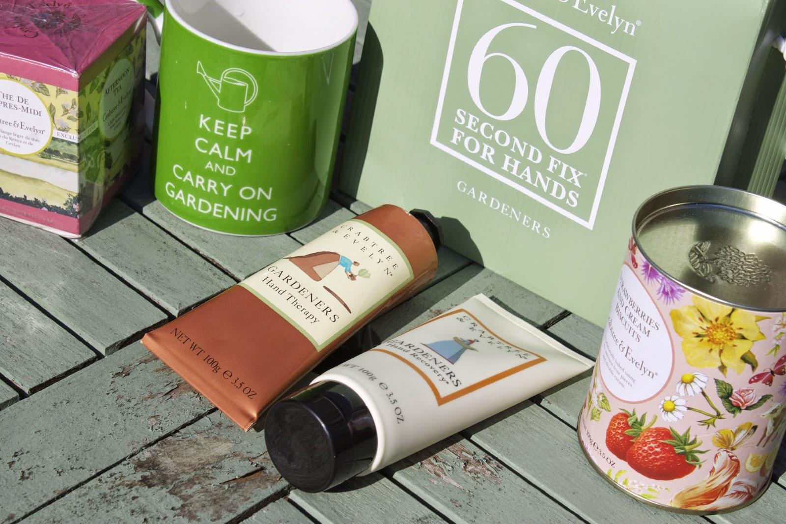 gardening, crabtree and evelyn, handcream