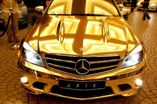 car from gold