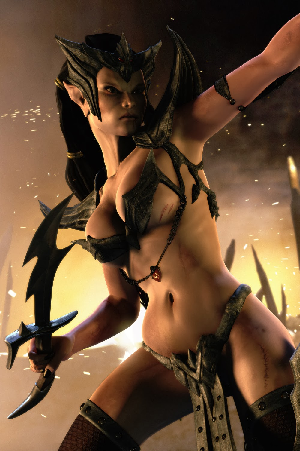 Female dark fantasy naked images