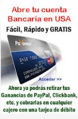 Cuenta Bancaria en USA y Tarjeta Gratis