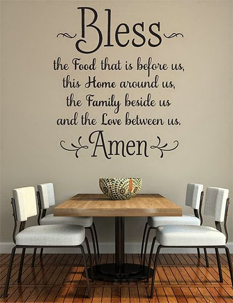 wall design-writing for dining room