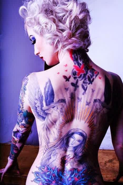 Melissa Dramaqueen Back Tattoo Bird Designs