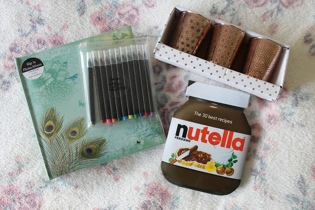 What I Got For Christmas 2015: Bits and Bobs Edition WH Smiths Photo Album Paperchase Pens The 30 Best Recipes from Nutella New Look Rose Gold Candles