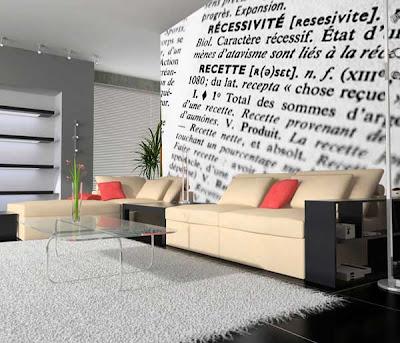 Decorar la pared con un mural papel pintado - Papel para cubrir paredes ...