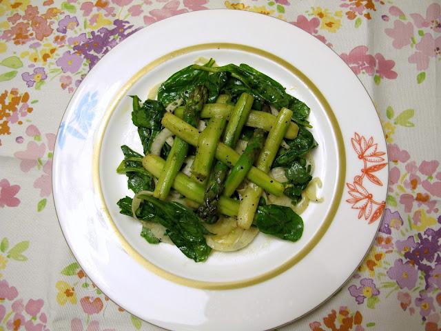 茴香菠菜蘆筍暖沙律食譜
