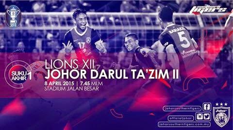 Lions XII Vs JDT II Piala FA