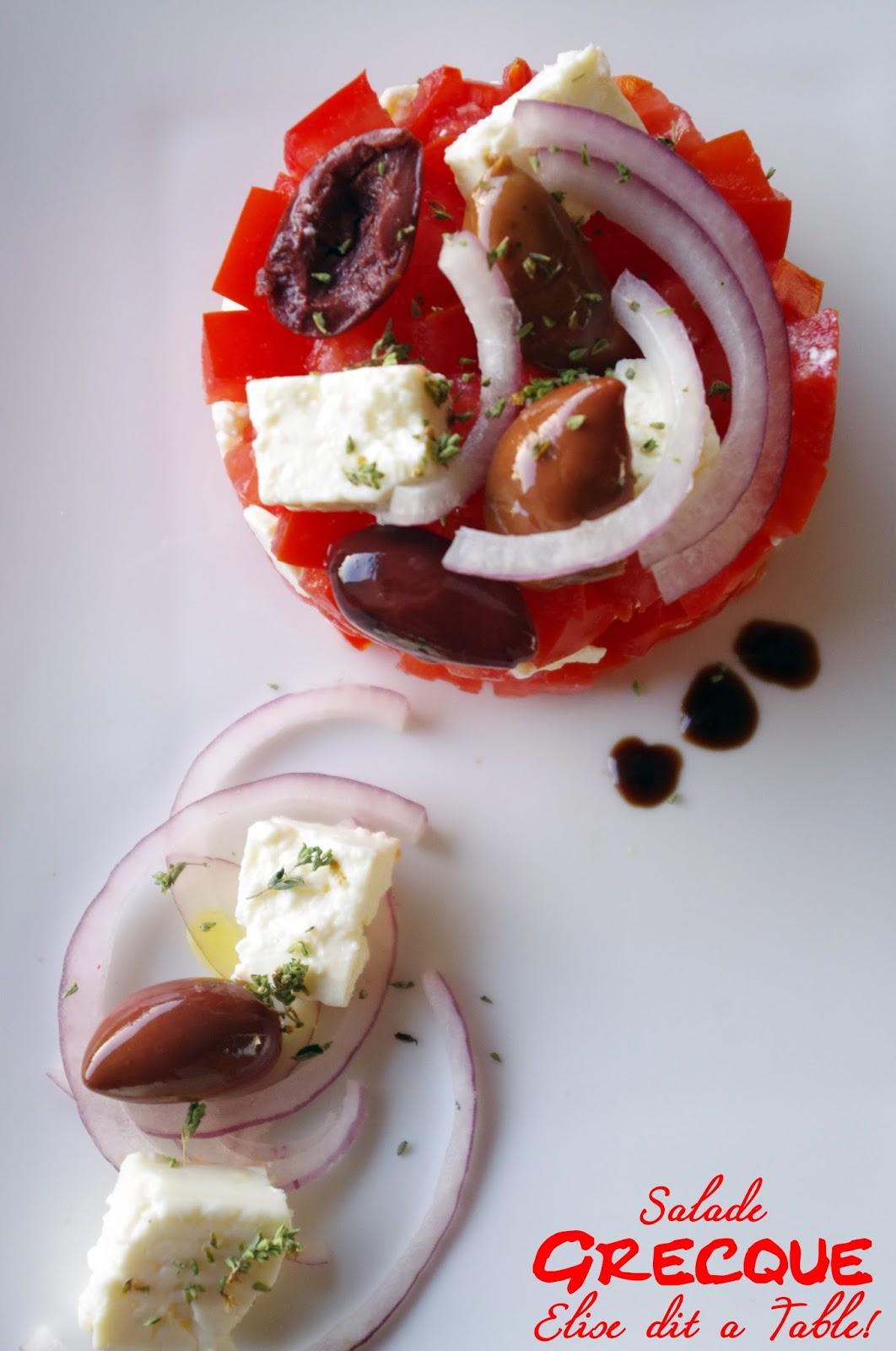 recette Salade de tomate à la greque