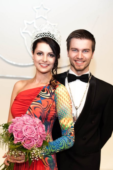 Mis un Misters Latvija Mister and Miss Latvia 2013 winners Liliana Garkalne and Mareks Mohovikovs
