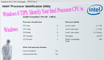 Windows 8 TIPS: Identify Your Intel Processor-CPU in  Windows