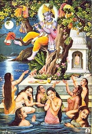 Krishna Stealing the Garments of the Unmarried Gopi Girls
