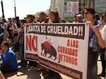 Concentración antitaurina en Madrid (8-5-2011)