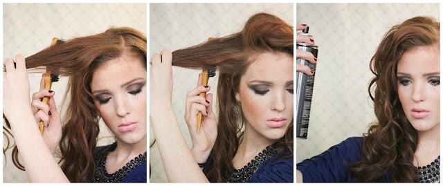 Прическа на бок с кудрями пошагово на длинные волосы