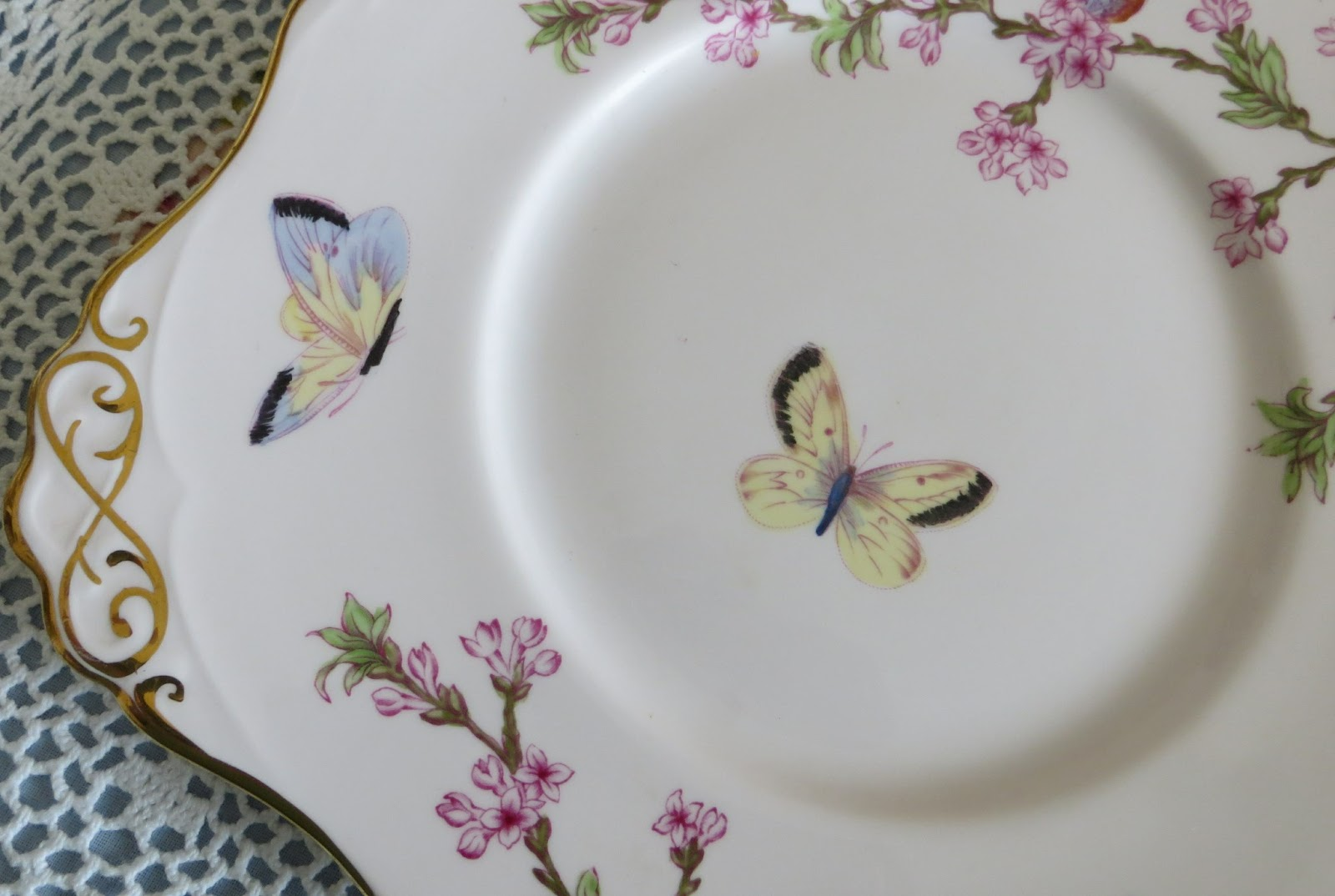 Shortbread Ginger Beautiful Butterfly Plates