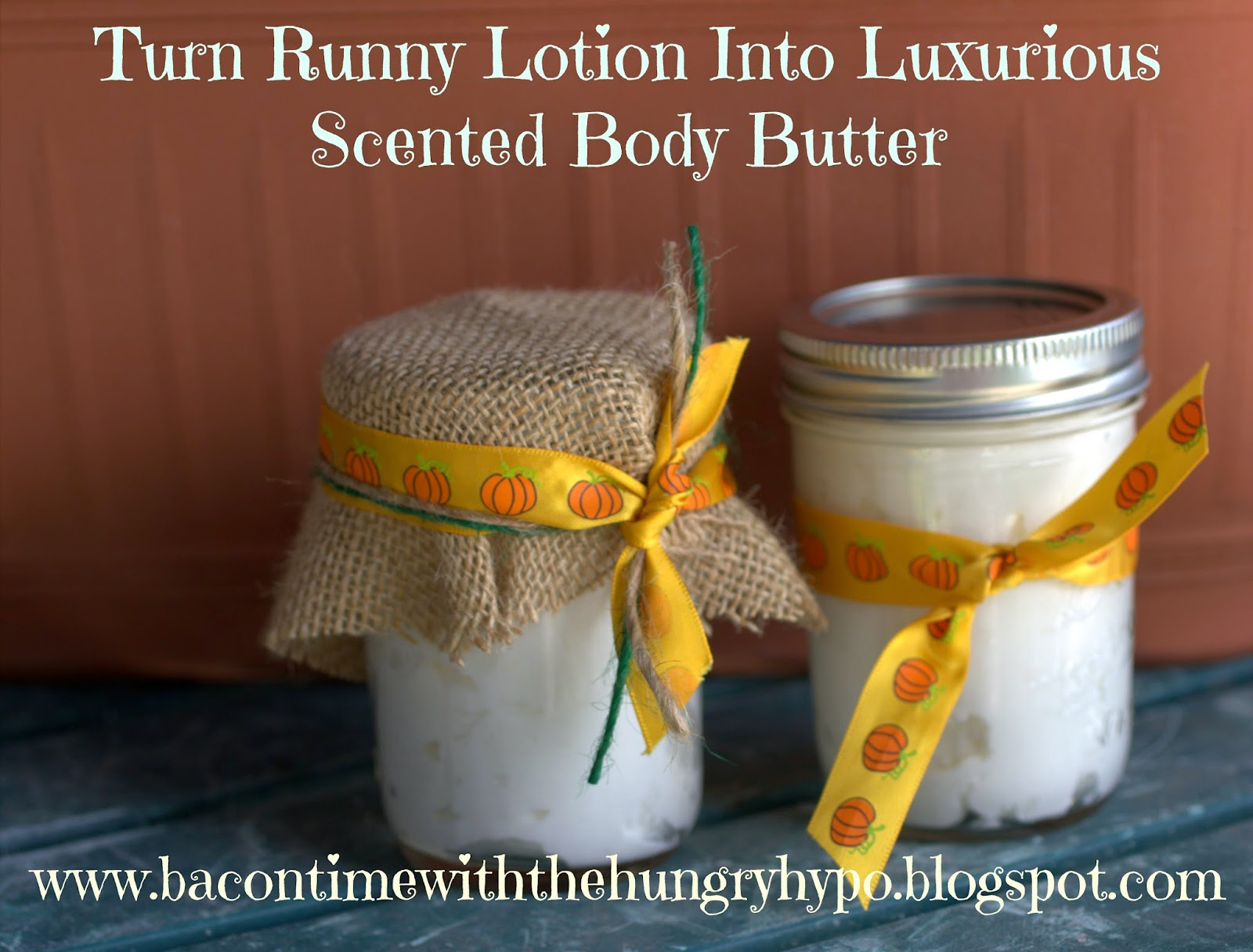 turn runny lotion into luxurious scented body butter