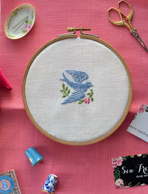 Bluebird Baby Cross Stitch Pattern