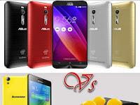 Adu Gahar Spesifikasi Asus Zenfone 2 Vs Lenovo K3 Note Mana yang Lebih Keren??