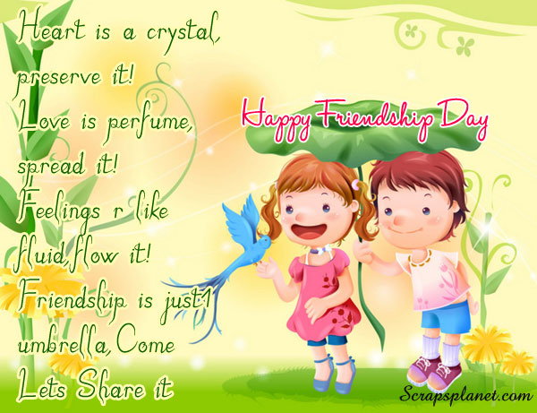 Friendship day love sms quotes greeting cardswallpapers 2013 friendship day is the day for celebrate friendship this day originally promoted by joyce hall the founder of hallmark cards in 1930 intended to be 2 m4hsunfo
