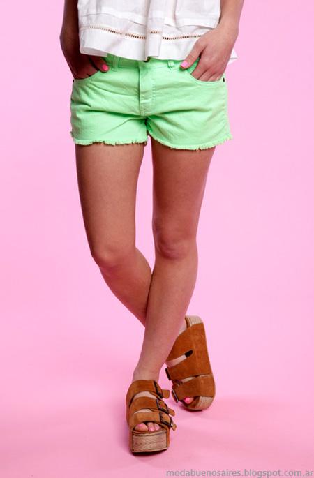 Shorts y monos moda verano 2013 47 Street