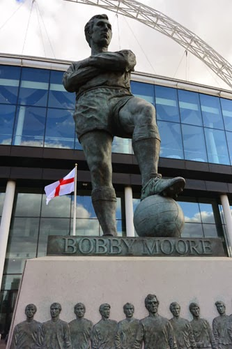 Bobby Moore Statue Wembley Stadium, London