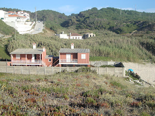 Agua de Madeiros Beach Red Houses photo - Leiria - Portugal