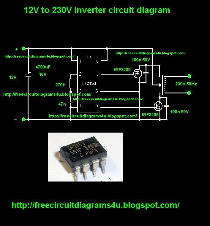 free circuit diagrams 4u 12v to 230v inverter circuit diagram