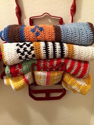 hæklet håndklæder