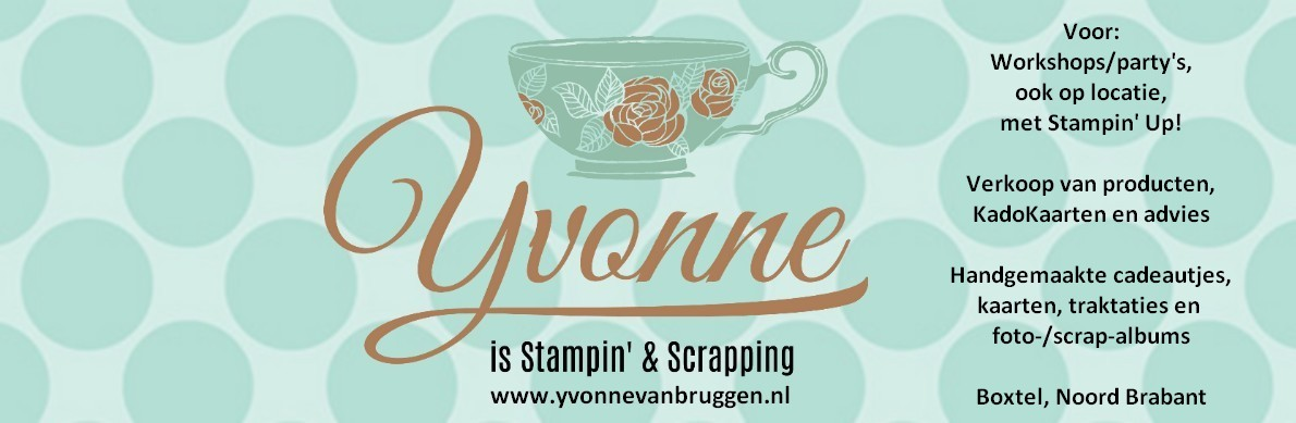 ......Yvonne is Stampin' & Scrapping.....