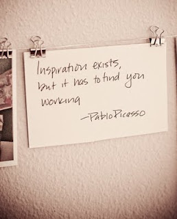 Pablo Picasso's Quote on Inspiration