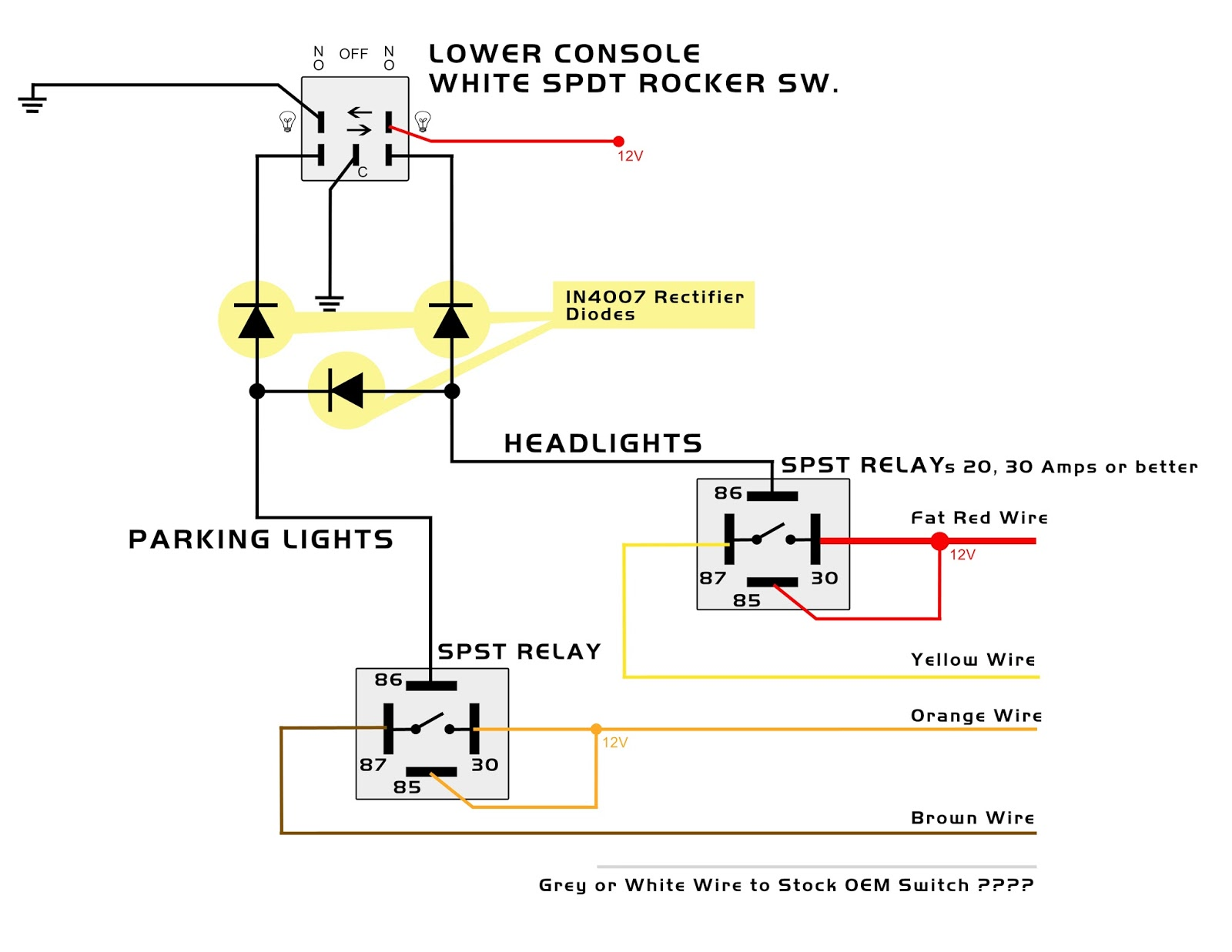 LowerConsoleWiringDiagram03__HeadlightsParkingLightsSW my knight rider 2000 project parking and headlights lower console auxiliary switch wiring diagram at alyssarenee.co
