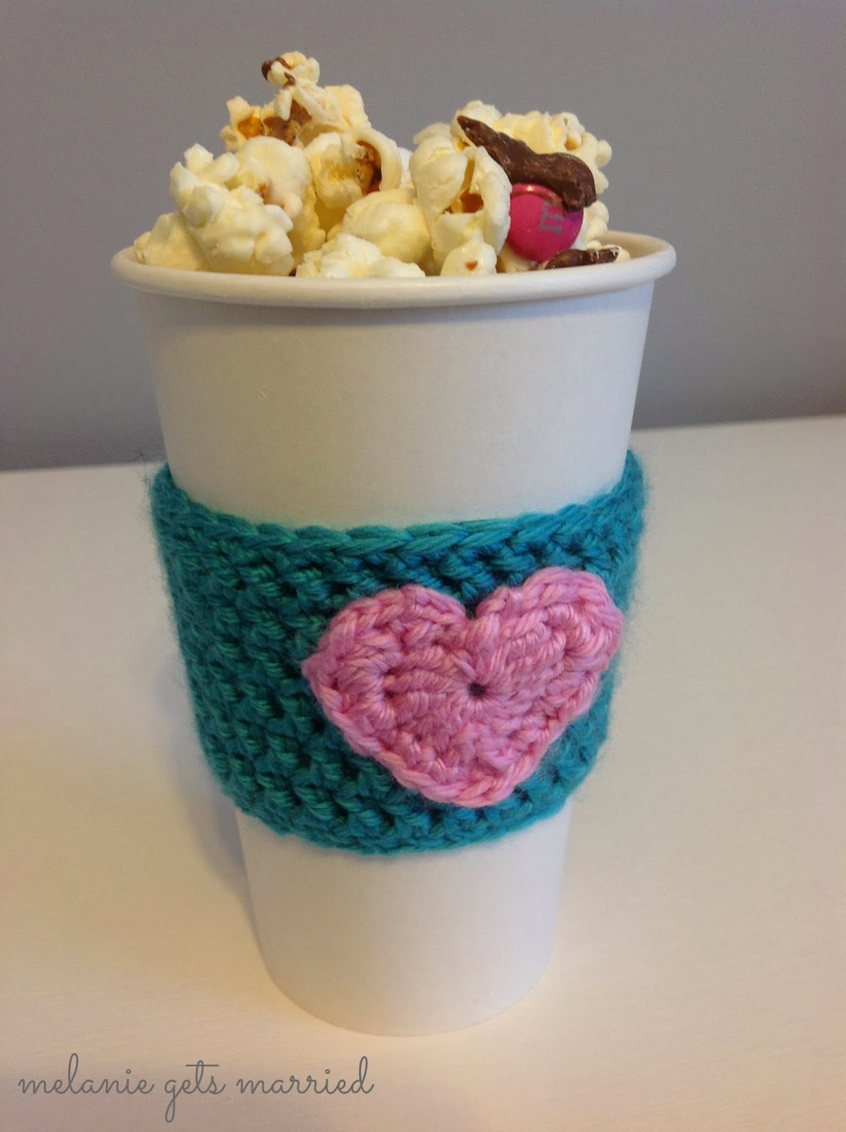 Crocheted coffee cozy's