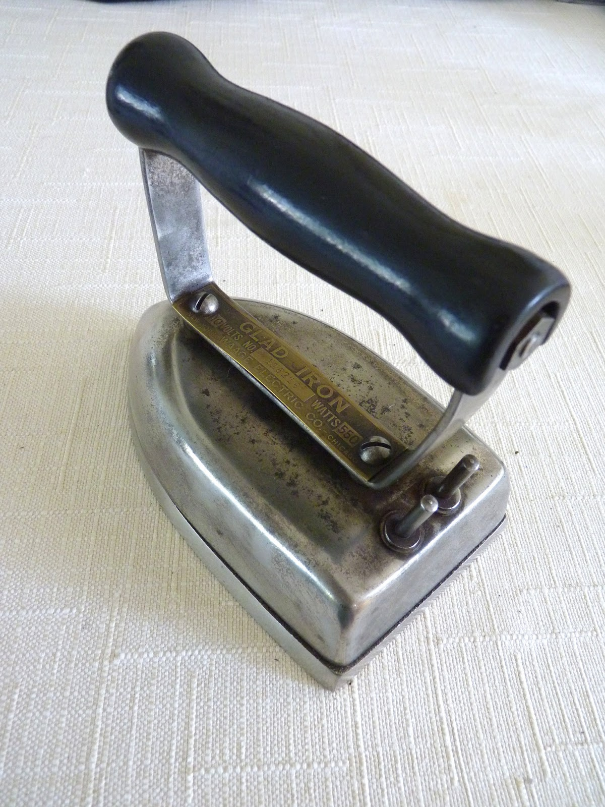 Antique Electric Irons ~ Waage quot glad iron vintage electric irons