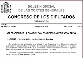 Proyecto Ley Auditoría de Cuentas
