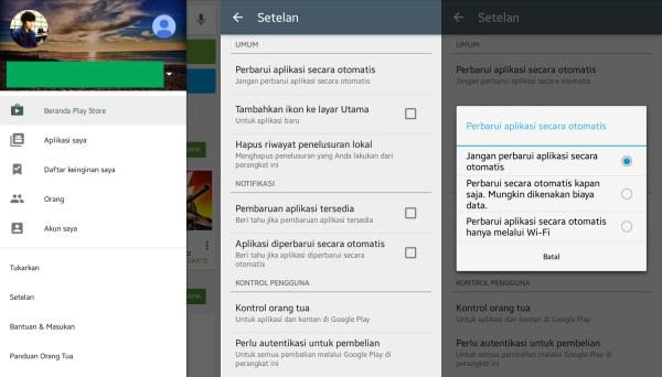 Update Aplikasi Hanya Saat Tersambung Hostpot/Wi-fi