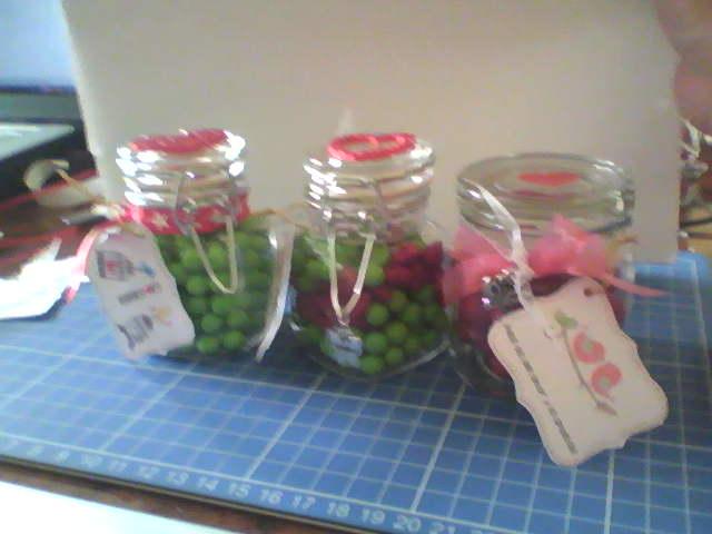 Detalles dulceros en frascos for Frascos decorados para navidad