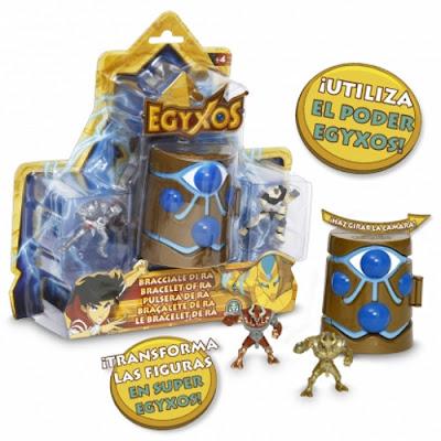 TOYS : JUGUETES - EGYXOS  Cámara de transformación + 2 Muñecos - Figuras  Brazalete o Pulsera de Ra Producto Oficial Serie 2016 | Giochi Preziosi | A partir de 4 años Comprar en Amazon España