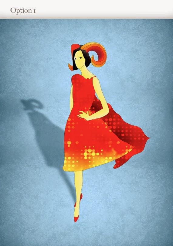 Ilustracion Fashion Mujer Aries