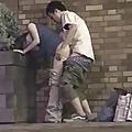 Casal de japoneses transando na rua