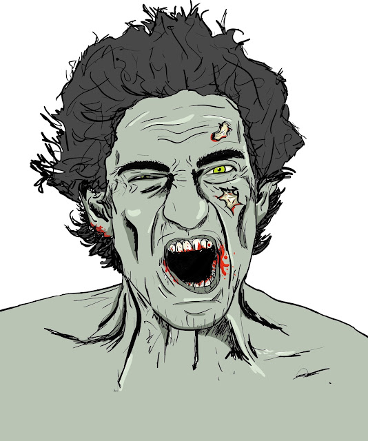 vector art Illustrator zombie drawing