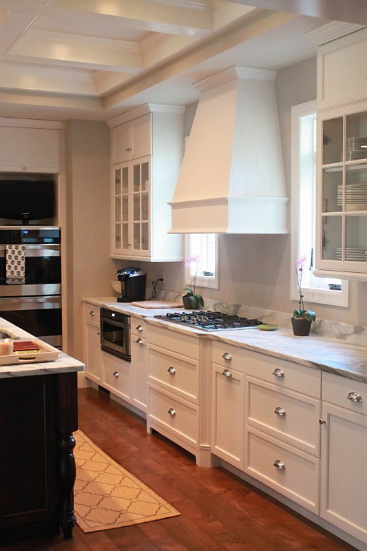 Jenny Steffens Hobick Jill's Kitchen  White Marble, Stained Island