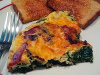 turkey bacon and spinach frittata recipe